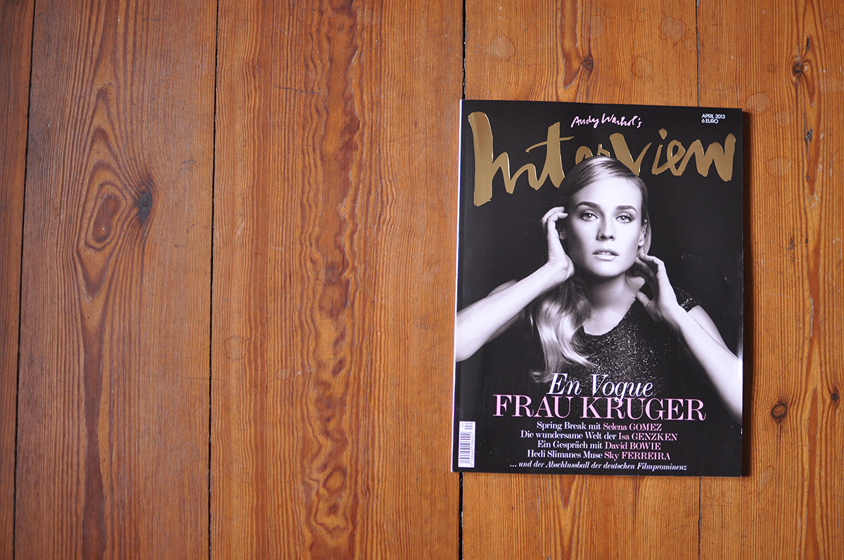 Interview Magazin Cover, April 2013
