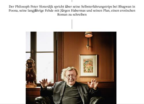 © Süddeutsche Zeitung Magazin, Interview: Sven Michaelsen, Foto: Christian Schnur